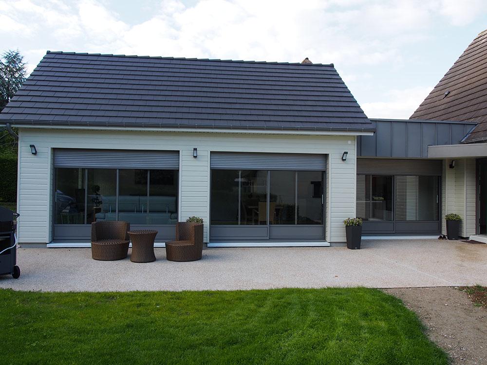 Agrandissement d'une maison existante (Région Haute Normandie)